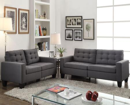 Acme Furniture Earsom 52770SL Living Room Set Gray, 2 PC Set