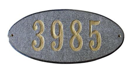 Qualarc Rockport ROC4701BN Address Plaques, ROC 4701 BN