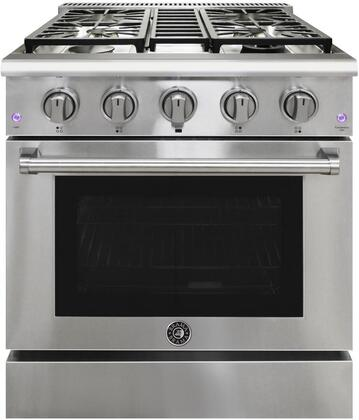 BR-30SSGG 30″ Freestanding Gas Range with 4 Sealed Burners  4.2 cu. ft. Oven Capacity  Continuous Grates  Convection Oven  in Stainless