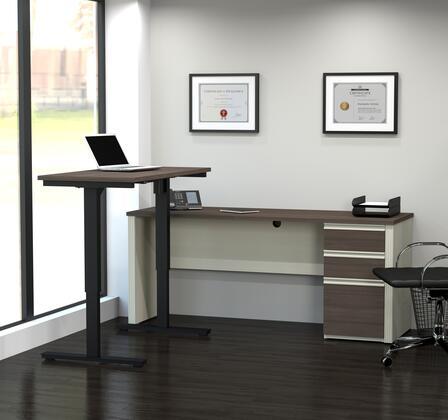 Bestar Furniture 9988552 Desk, prestige+ white chocolat antigua 99885 52 room