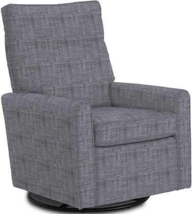 Phylicia Collection 4007-20523 Recliner with 360-Degrees Swivel Glider Metal Base  Removable Back  High Backrest  Zipper Access and Fabric Upholstery