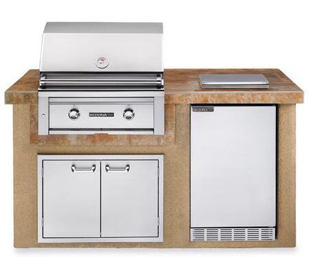 Sedona L1500SLP Deluxe Sandalwood Island Package Includes Sedona Liquid Propane L500PS Grill  Sedona Outdoor-rated Refrigerator  Single Side Burner