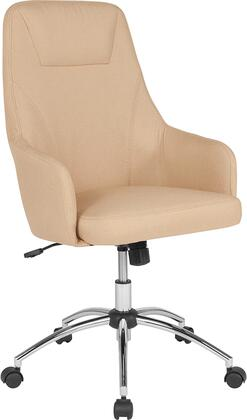BT-90509H-BGE-F-GG Rennes Home and Office Upholstered High Back Chair in Beige