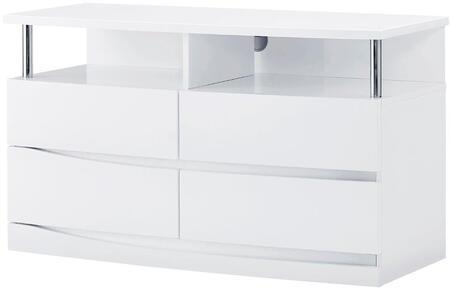 Global Furniture USA Aurora AURORAWHEU 42 in. to 51 in. TV Stand White, Main Image