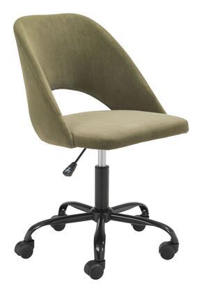 Zuo Treibh 101991 Office Chair Green, 101991 1