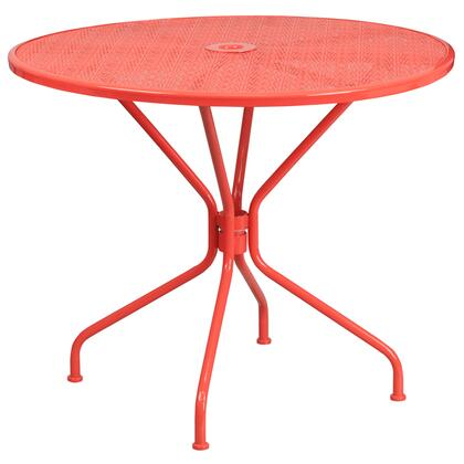 Flash Furniture  CO7REDGG Outdoor Patio Table Red, CO7REDGG front