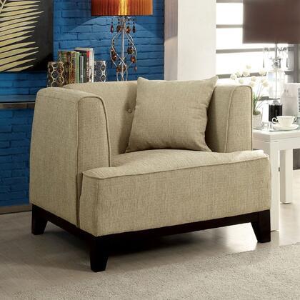 Furniture of America Sofia CM6761BGCHPK Living Room Chair Beige, Main Image