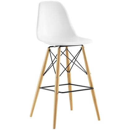 Modway Pyramid EEI1701WHI Bar Stool White, Bar Stool