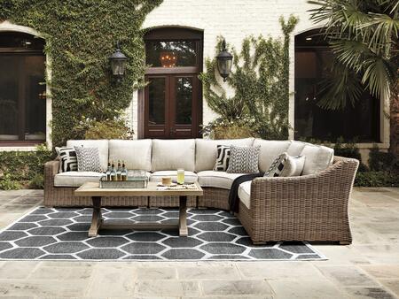 Signature Design by Ashley Beachcroft P791854851846 Outdoor Patio Set Beige, Main Image
