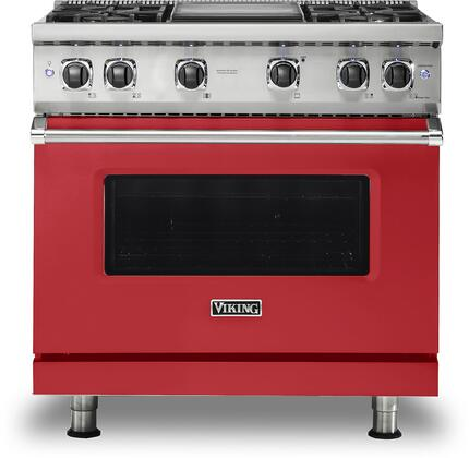 Viking 5 Series VGR5364GSM Freestanding Gas Range Red, VGR5364GSM Gas Range