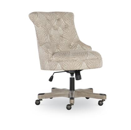 OC105FERN01 Oc105Fern01 Sinclair Office Chair  Fern Pattern With Stylish And Comfortable Option For Office Seating  Metal Casters And Natural Wood