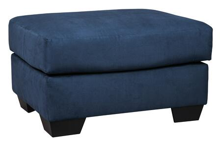 Signature Design by Ashley Darcy 7500714 Living Room Ottoman Blue, Main Image
