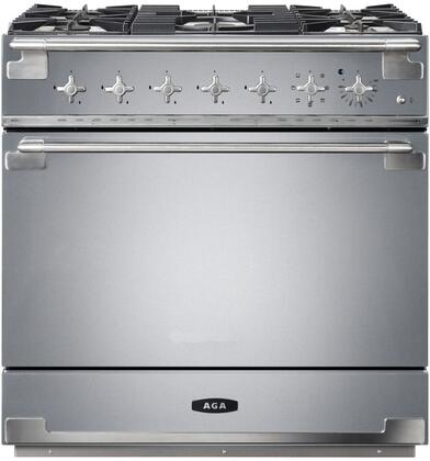 AEL36DF-SS 36″ Elise Stainless Steel Dual Fuel Natural Gas Range with 4.5 cu. ft. Capacity  Dual Broiler System  5 Sealed Solid Brass Burners