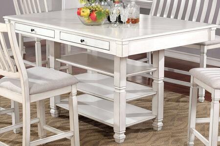 Furniture of America Kaliyah CM3194PT Dining Room Table White, CM3194PT Main Image