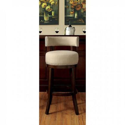 Furniture of America Lynsey CMBR6252BG242PK Bar Stool Brown, Main Image