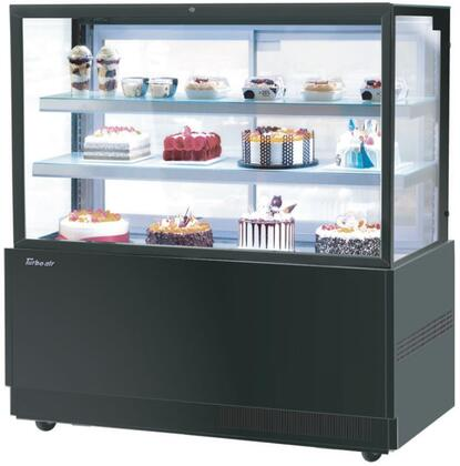 Turbo Air TBP6054FNB Display and Merchandising Refrigerator Black, TBP6054FNB Angled View