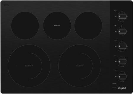 Whirlpool WCE77US0HB 30 Black 5 Burner Electric Cooktop