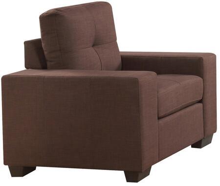 Acme Furniture Platinum III 52937 Living Room Chair Brown, 1