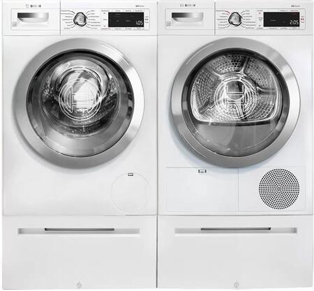 Bosch 800 Series 1329653 Washer & Dryer Set White, 1