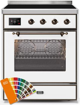 Ilve Majestic II UMI30NE3RALB Freestanding Electric Range Custom Color, Custom RAL Color Option