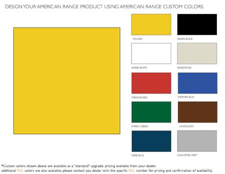 American Range  ARR60CKY Color Option , 1