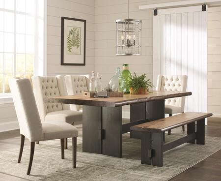 Scott Living Marquette 107801CB Dining Room Set Brown, 6 PC Set