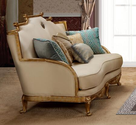Majestic Collection 3036BGMAJ Transitional Style Loveseat In Gold Finish