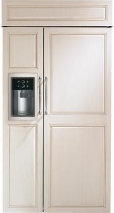 "Monogram  ZISB420DNII Side-By-Side Refrigerator Panel Ready, ZISB420DNII 42"" Built-In Side-by-Side Refrigerator"