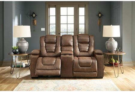Signature Design by Ashley Owner's Box 2450518 Loveseat Brown, Main Image