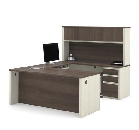 Bestar Furniture 9985352 Desk, prestige+ white chocolat antigua 99853 52 room