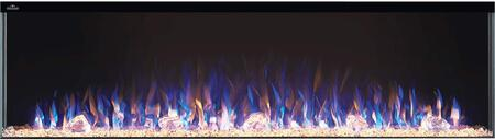 Trivista Collection NEFB60-3SV 60″ Three-Sided Electric Fireplace with Up to 10000 BTUs  Motion Sensor Touch Screen Control Panel  7 Flame Color