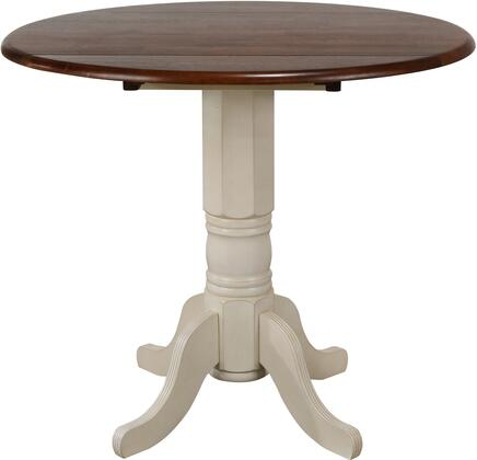 Sunset Trading Andrews DLUADW4242CBAW Dining Room Table White, DLUADW4242CBAW Main View