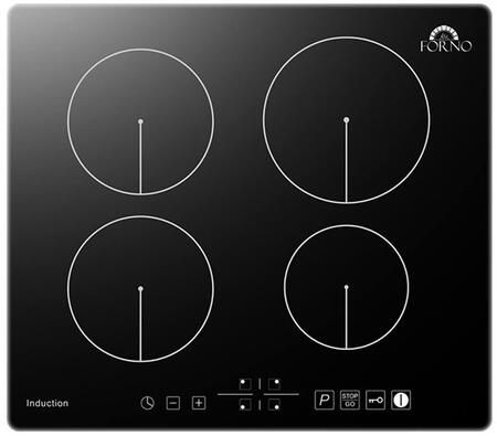 FCTIN0539-24 24″ Induction Cooktop with 4 Elements  Touch Control  Automatic Safety Switch Off and Residual Heat Indicator in