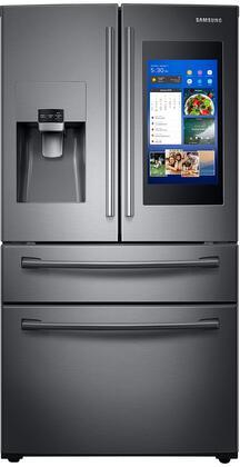 Samsung RF28NHEDBSG French Door Refrigerator Black Stainless Steel, Main View