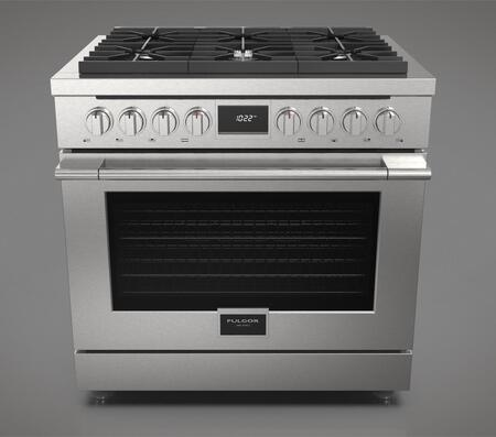 Fulgor Milano Accento F4PDF366S1 Freestanding Dual Fuel Range Stainless Steel, F4PDF366S1 Accento Dual Fuel Range