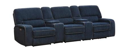 Coaster Dundee Motion 603371PPT Home Theater Seating Blue, Main Image
