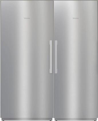Miele  1330012 Column Refrigerator & Freezer Set Stainless Steel, 1