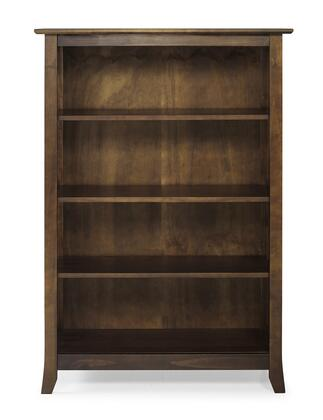 EM06CAP01U Em06Cap01U Emerson Double Bookcase With Classic Mission Style  Two Tiers Of Storage And Display Space And Solid Pine Wood Construction In