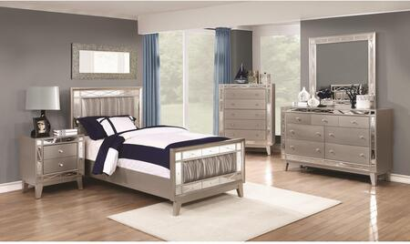 Coaster Leighton 204921TSET Bedroom Set Gray, 5 PC Set