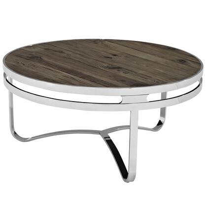 Modway Provision EEI1213BRN Coffee and Cocktail Table Brown, Brown