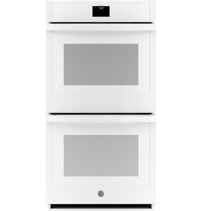 GE  JKD5000DNWW Double Wall Oven White, Main Image