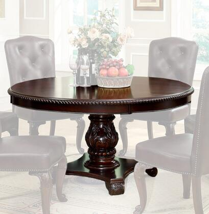 Furniture of America Bellagio CM3319RTTABLE Dining Room Table Brown, Main Image