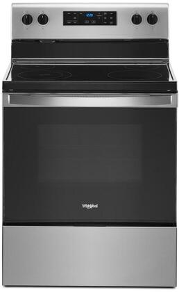 Whirlpool  WFE515S0JS Freestanding Electric Range Stainless Steel, WFE515S0JS Front View