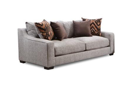 Minnesota Collection 181403-2007-S-HS 87″ Sofa with Decorative Pillows  Track Arms  Block Feet  Homespun Stone Polyester Upholstery in Beige
