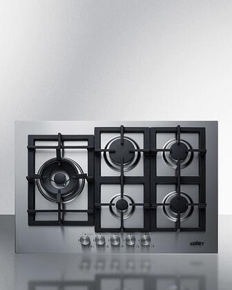 Summit  GCJ5SS Gas Cooktop Stainless Steel, GCJ5SS 5 Burner Gas Cooktop