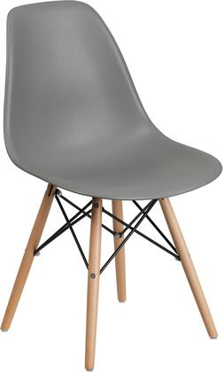 Flash Furniture Elon FH130DPPGYGG Dining Room Chair Gray, FH 130 DPP GY GG