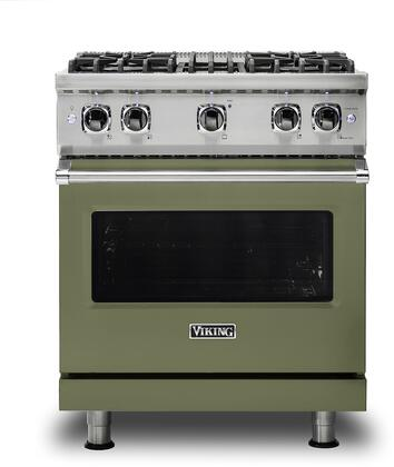 Viking 5 Series VGR5304BCYLP Freestanding Gas Range Green, VGR5304BCYLP Gas Range