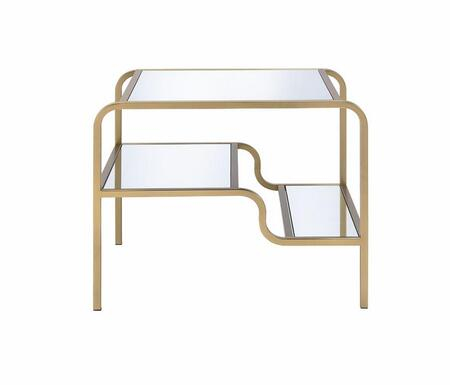 Acme Furniture Astrid 81092 End Table Gold, End Table