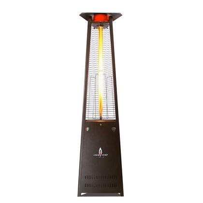 AL8MGBK LAVALITE 92.5″ Triangle Glass Tube Outdoor Heater with  56 000 BTU  Electronic Ignition   in Heritage Bronze  Natural Gas -Knockdown