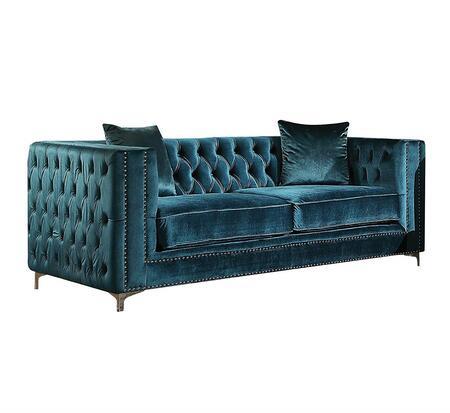 Acme Furniture Gillian 52791 Loveseat Blue, Loveseat